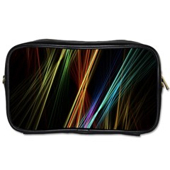 Lines Rays Background Light Toiletries Bags