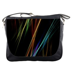 Lines Rays Background Light Messenger Bags
