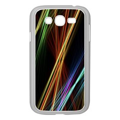 Lines Rays Background Light Samsung Galaxy Grand Duos I9082 Case (white)