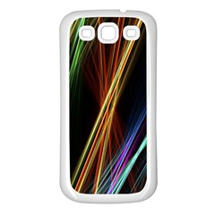 Lines Rays Background Light Samsung Galaxy S3 Back Case (white)