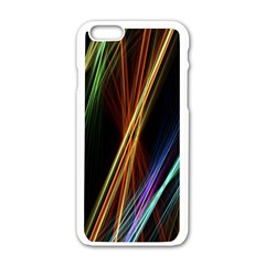 Lines Rays Background Light Apple Iphone 6/6s White Enamel Case