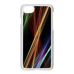 Lines Rays Background Light Apple Iphone 7 Seamless Case (white)