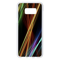 Lines Rays Background Light Samsung Galaxy S8 Plus White Seamless Case