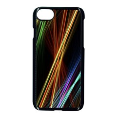 Lines Rays Background Light Apple Iphone 8 Seamless Case (black)