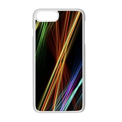 Lines Rays Background Light Apple Iphone 8 Plus Seamless Case (white)