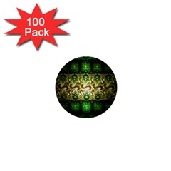 Fractal Art Digital Art 1  Mini Buttons (100 Pack)