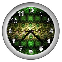 Fractal Art Digital Art Wall Clocks (silver)