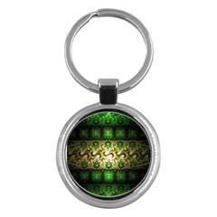 Fractal Art Digital Art Key Chains (round)