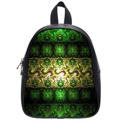 Fractal Art Digital Art School Bag (small)