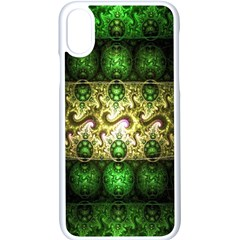 Fractal Art Digital Art Apple Iphone X Seamless Case (white)