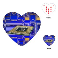Processor Cpu Board Circuits Playing Cards (heart)