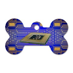 Processor Cpu Board Circuits Dog Tag Bone (one Side)