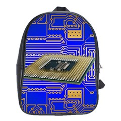 Processor Cpu Board Circuits School Bag (large)