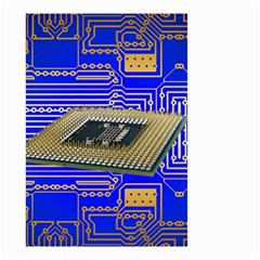 Processor Cpu Board Circuits Small Garden Flag (two Sides)