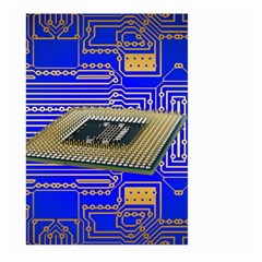 Processor Cpu Board Circuits Large Garden Flag (two Sides)