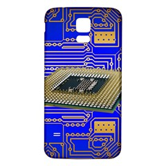 Processor Cpu Board Circuits Samsung Galaxy S5 Back Case (white)