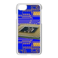 Processor Cpu Board Circuits Apple Iphone 8 Seamless Case (white)