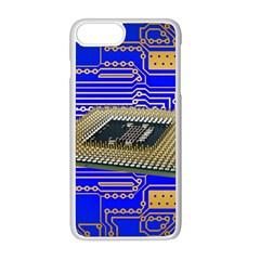Processor Cpu Board Circuits Apple Iphone 8 Plus Seamless Case (white)