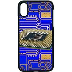 Processor Cpu Board Circuits Apple Iphone X Seamless Case (black)