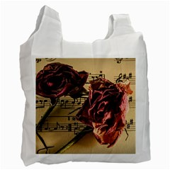 Sheet Music Manuscript Old Time Recycle Bag (two Side)