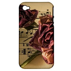 Sheet Music Manuscript Old Time Apple Iphone 4/4s Hardshell Case (pc+silicone)