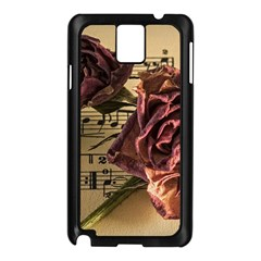 Sheet Music Manuscript Old Time Samsung Galaxy Note 3 N9005 Case (black)