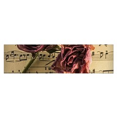 Sheet Music Manuscript Old Time Satin Scarf (oblong)
