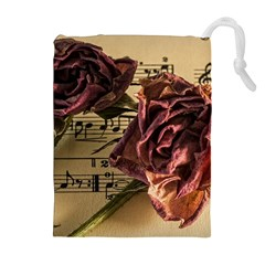 Sheet Music Manuscript Old Time Drawstring Pouches (extra Large)