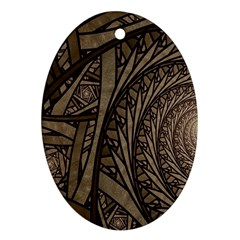 Abstract Pattern Graphics Ornament (oval)