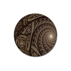 Abstract Pattern Graphics Magnet 3  (round)