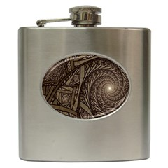 Abstract Pattern Graphics Hip Flask (6 Oz)