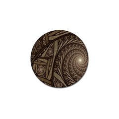 Abstract Pattern Graphics Golf Ball Marker