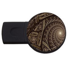 Abstract Pattern Graphics Usb Flash Drive Round (4 Gb)