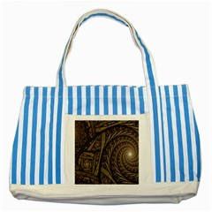 Abstract Pattern Graphics Striped Blue Tote Bag