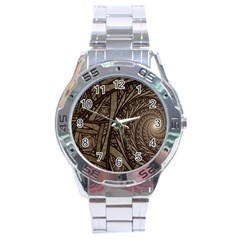 Abstract Pattern Graphics Stainless Steel Analogue Watch