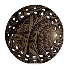 Abstract Pattern Graphics Round Filigree Ornament (two Sides)