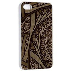 Abstract Pattern Graphics Apple Iphone 4/4s Seamless Case (white)