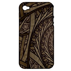 Abstract Pattern Graphics Apple Iphone 4/4s Hardshell Case (pc+silicone)