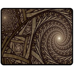 Abstract Pattern Graphics Double Sided Fleece Blanket (medium)
