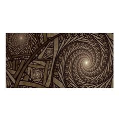Abstract Pattern Graphics Satin Shawl