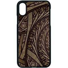 Abstract Pattern Graphics Apple Iphone X Seamless Case (black)