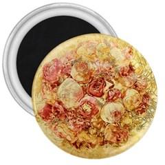 Vintage Digital Graphics Flower 3  Magnets