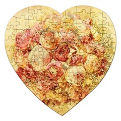 Vintage Digital Graphics Flower Jigsaw Puzzle (heart)