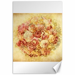Vintage Digital Graphics Flower Canvas 12  X 18