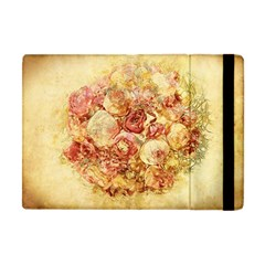 Vintage Digital Graphics Flower Apple Ipad Mini Flip Case
