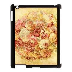 Vintage Digital Graphics Flower Apple Ipad 3/4 Case (black)