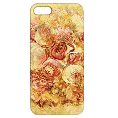 Vintage Digital Graphics Flower Apple Iphone 5 Hardshell Case With Stand