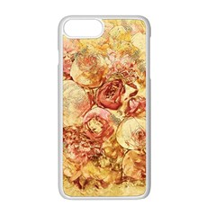Vintage Digital Graphics Flower Apple Iphone 8 Plus Seamless Case (white)