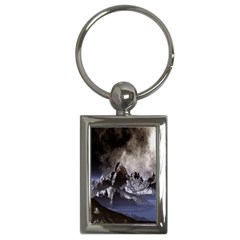 Mountains Moon Earth Space Key Chains (rectangle)