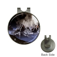 Mountains Moon Earth Space Hat Clips With Golf Markers